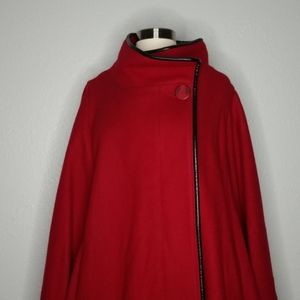 Vintage 60 Red Wool Cosplay Renaissance Cloak Cape